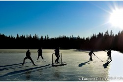 The Most Beautiful Hockey Rink In The Work - Mendenhall Lake -- Photo (c) Laurent Dick - Wild Alaska Travel