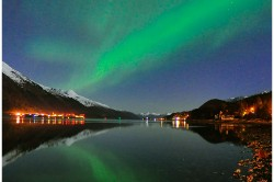 Northern Lights Over Gastineau Channel Juneau Douglas - Photo (c) Laurent Dick - Wild Alaska Travel