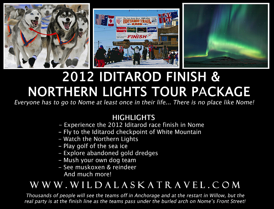 2012 Iditarod Finish & Northern Lights Tour Package