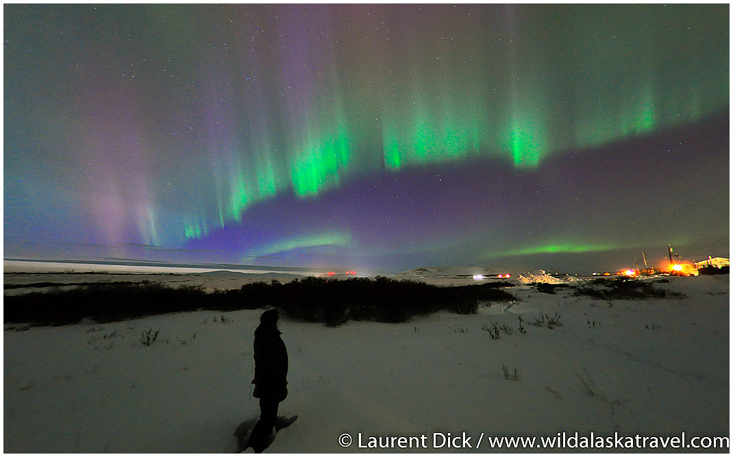 Northern Lights Over Anvil Mountain Nome - Photo (c) Laurent Dick - Wild Alaska Travel