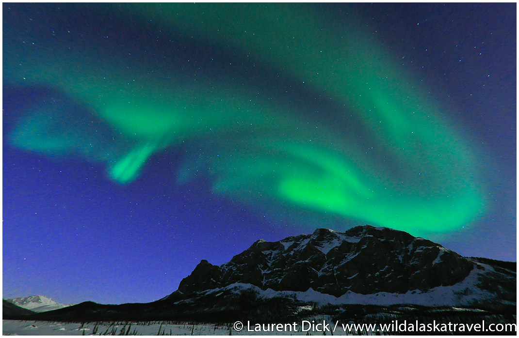 Alaska Northern Lights Over Brooks Range --- Photo (c) Laurent Dick - Wild Alaska Travel