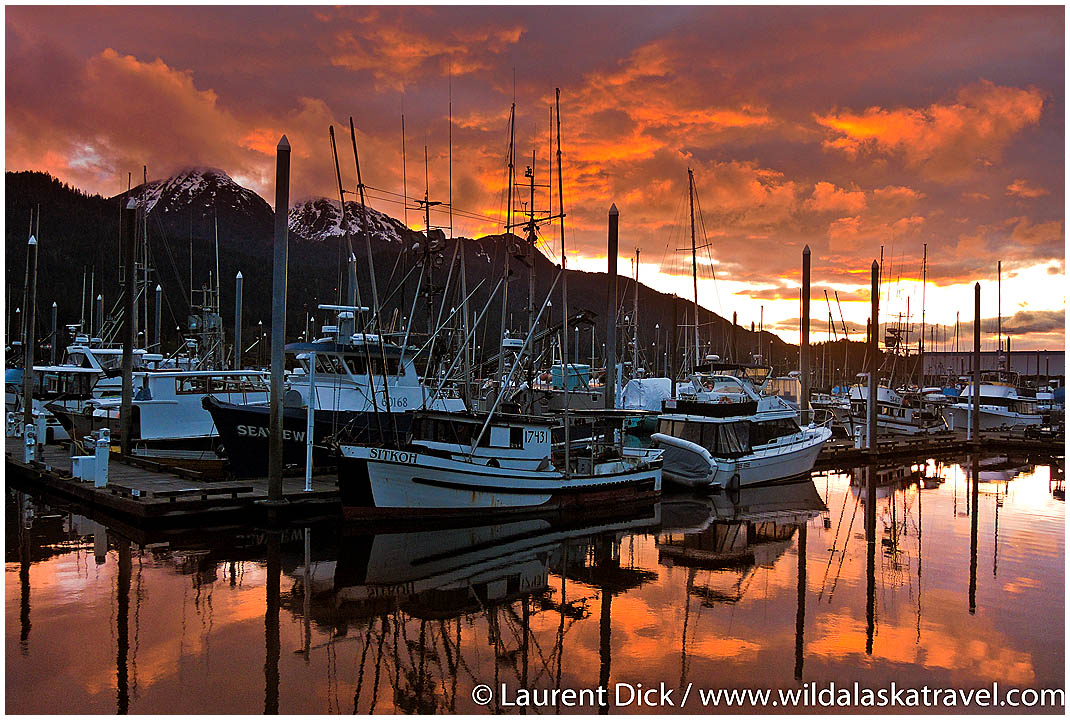 Harris Harbor Juneau Sunset - Photo (c) Laurent Dick - Wild Alaska Travel