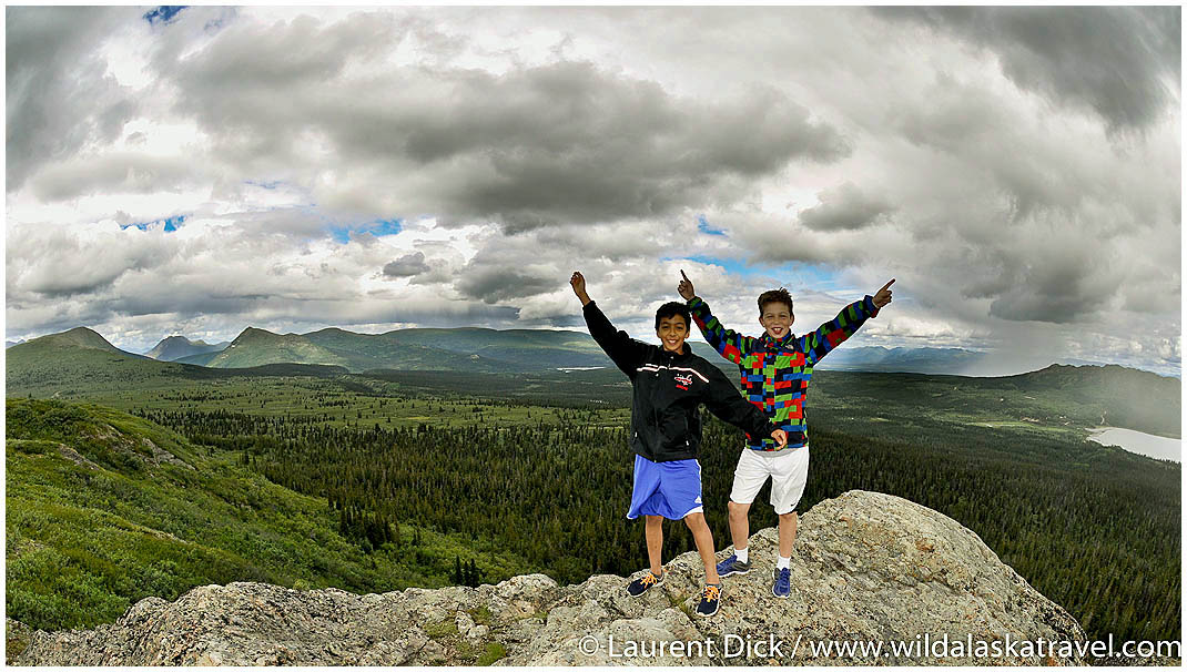 Andre and Florian Whitehorse Yukon Hiking - Photo (c) Laurent Dick - Wild Alaska Travel